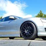 JMS Styling für den Audi A5 B8 ohne S-Line mit H&R Tieferlegungsfedern, Frontspoilerlippe, Seitenschweller und Heckdiffusor