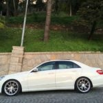 Mercedes W212 E-Class with Barracuda Inferno rims and a discreet lowering